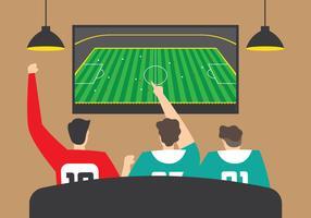 Assistindo futebol juntos vetor