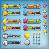 Kit de interface do usuário com ícones e barras de status vetor
