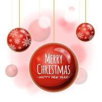 Fundo de Natal com bolas vetor