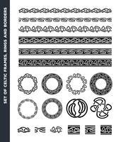 Fronteiras celtas, padrões e conjunto de anéis