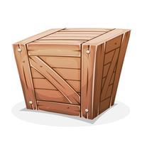 Caixote de madeira vetor