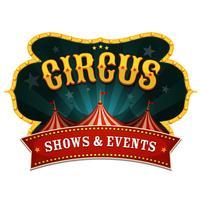 Banner de circo retrô vetor