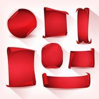 Conjunto de rolagem vermelho pergaminho de circo vetor