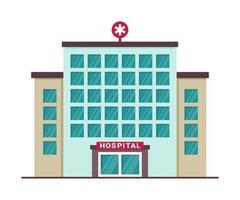 ícone do prédio do hospital médico do lado de fora. vista externa de instalação médica isolada vetor