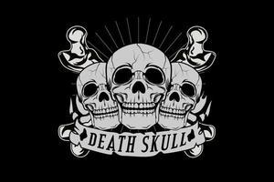 morte caveira cor cinza vetor
