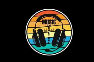 música é minha cultura, estilo retro vintage design vetor