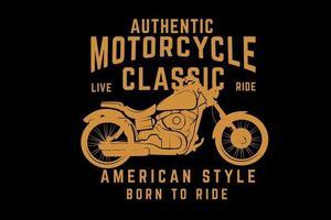 design de tipografia clássica de motocicleta vetor