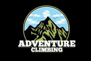 design de silhueta de escalada de aventura vetor