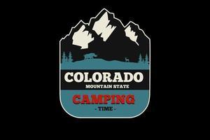 desenho da silhueta do Colorado Mountain State vetor