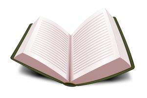 Livro aberto de design com linhas vetor