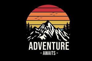 aventura aguarda design de mercadoria vetor