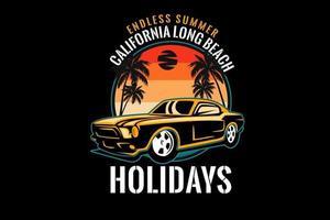 desenho de silhueta de california long beach vetor