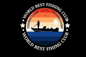 melhor cor de pesca do mundo laranja e azul vetor