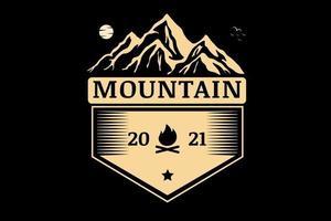 montanha acampamento cor creme vetor