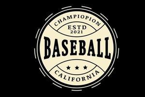 campeão de beisebol cor creme califórnia vetor