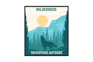aventura design ao ar livre com a natureza vetor