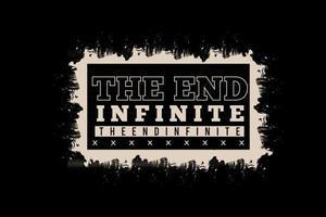 o design de tipografia infinita final vetor
