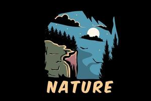 desenho de ilustração da natureza vetor