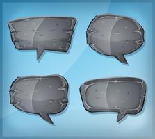 Bolhas do discurso de pedra em quadrinhos vetor