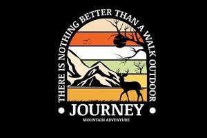 jornada montanha aventura cor creme laranja branco e amarelo vetor
