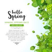 Fundo anual de venda de primavera