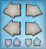 Setas De Pedra Sinais Para O Jogo De Ui