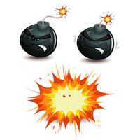 Jateamento de bombas vetor