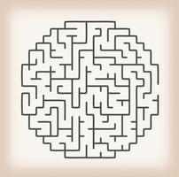 Jogo De Labirinto No Fundo Do Vintage vetor