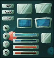 Ícones do espaço de ficção científica para jogo de interface do usuário