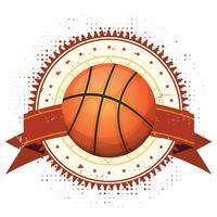 Grunge de basquete e Banner Vintage vetor