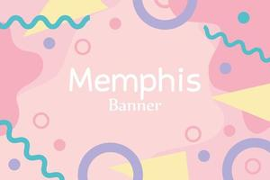 bonecos de memphis pop têxtil anos 80 estilo anos 90 banner abstrato vetor