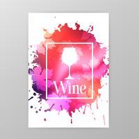 Banner de promoção de copo de vinho para evento de degustação de vinhos
