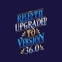 letras de slogans para aniversário, recentemente atualizado para a versão 36.0 vetor