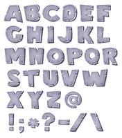 Alfabeto de pedra dos desenhos animados vetor