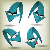 Personagens engraçados de flechas vintage vetor