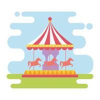 divertimento feira carnaval carrossel recreação entretenimento vetor
