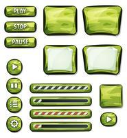 Elementos militares de camuflagem para jogo de interface do usuário