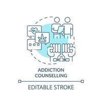 ícone do conceito de aconselhamento anti-drogas vetor