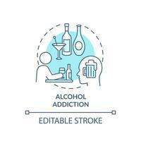 ícone do conceito de dependência de álcool vetor