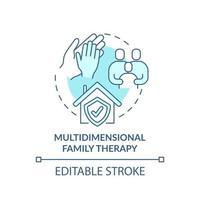 ícone do conceito de terapia familiar multidimensional vetor