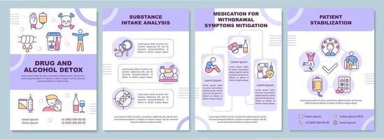 modelo de folheto de desintoxicação de drogas e álcool vetor