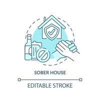 ícone do conceito de casa sóbria vetor