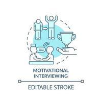 ícone do conceito de entrevista motivacional vetor