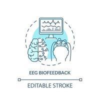 ícone do conceito de biofeedback eeg vetor