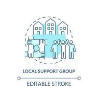 ícone de conceito de grupo de suporte local vetor