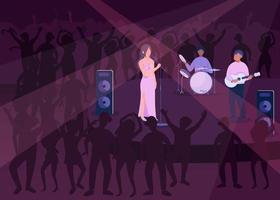 ilustração em vetor cor lisa festa clube noturno