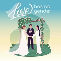 maquete de postagem em mídia social de casamento lgbt vetor