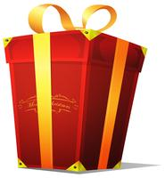 Caixa de presente de natal vetor