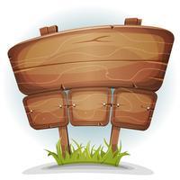 Sinal de madeira do país de primavera vetor