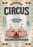Fundo de circo retrô e grunge vetor